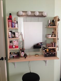 DIY vanity from Home Depot Small Room Decor, Small Room Design, Teen Room Decor, Diy Room Decor, Bedroom Decor, Dorm Room Designs, Room Design Bedroom, Room Ideas Bedroom, Small Room Bedroom