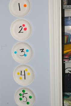 Dot Paint Number Line #preschool #math #homeschool