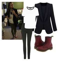 """My OOTD"" by mack-et-la-mode ❤ liked on Polyvore featuring Unique, Dr. Martens, women's clothing, women's fashion, women, female, woman, misses and juniors"