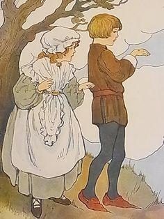 画像1: アンティーク!古いマザーグースの絵本の挿絵 14枚セット