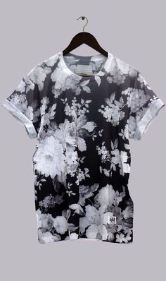 Black and white floral shirt