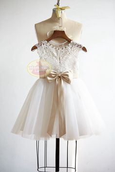 ❀ Welcome to MonbebeLagos Handmade dress shop ❀ The MonbebeLagos Dress is a pure handmade dress. Soft crochet lace bodice with small cap sleeves,