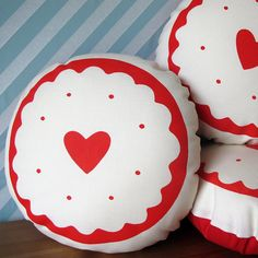 325d92116da8 Jammy Heart Screen Printed Biscuit Cushion. Introducing the newest biscuit  cushion - the perfect cuddly