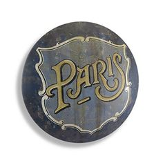 Antique Finish Round Paris Metal Sign Wall Art -- Check this awesome product by going to the link at the image. Decorative Signs, Paris Theme, Vintage Home Decor, Metal Signs, Wall Signs, Painting Frames, Decorative Accessories, Wall Art Decor, Vintage Inspired