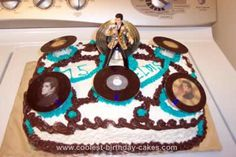 Homemade Elvis Presley Birthday Cake: I made this Elvis Presley Birthday Cake for an Elvis Birthday Party I had. Everyone loved it so much. I hope I can share with everyone who hasn't seen