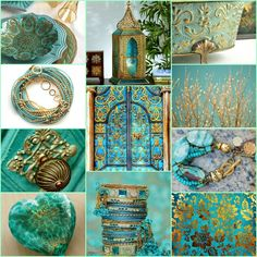 Gold and teal <3 [Design by Sue]