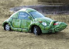 VW Beetle Turtle Car Wrap Costume