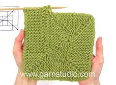 How to knit short rows in the blanket in DROPS 157-50