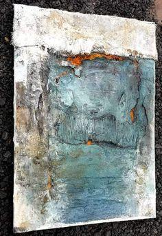 Rust / blue Source by sonjabittlinger Contemporary Art Artists, Modern Art, Texture Art, Texture Painting, Acrylic Art, Art Blog, Collage Art, New Art, Abstract Art