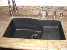 Kitchen: Handsome Kitchen Decoration With Black Granite Composite ...