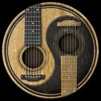 Yin yang acoustic guitars