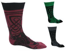 These stylish two-tone socks feature a design from the Book of Kells, a text of the Four Gospels that beautifully illustrates examples of Celtic knot work and various designs. It resides today at Trinity College Dublin! The socks are available in one size that fit sizes 6 – 11. They are made from 84% cotton, 14% nylon and 2% elastane, giving them a comfortable feel! These fashionable Irish socks are crafted by Patrick Francis crafted in Co. Dublin, Ireland.