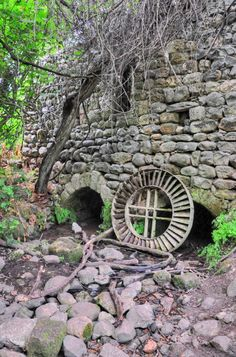 Israel. 150 year old mill in Tel Dan a nature reserve and the source of the Dan and Jordan Rivers