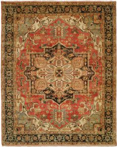 Stately and luxurious, the Jules Serapi features dramatic geometric patterns true to the styling of antique Serape/Heriz rugs woven in the 19th Century in Northwestern Iran. These rugs are hand knotted using the finest 100% New Zealand wool. Each...