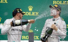 Scything through the curtains of spray like a silver bullet, Lewis Hamilton won a chaotic, fragmented and confounding Brazilian Grand Prix with the type of brio that suggested this year's world championship was anything but over. Lewis Hamilton Wins, Brazilian Grand Prix, Nico Rosberg, Silver Bullet, World Championship, Formula 1, Sports, Brazil 2016, Brio
