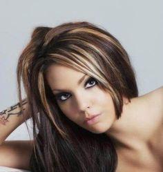 brown hair with blonde highlights lowlights hair cut style ideas