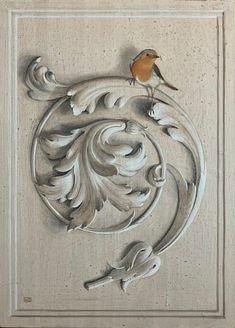 Sculpture Ornementale, Motif Art Deco, Ornament Drawing, Wall Painting Decor, Plaster Art, Grisaille, Carving Designs, Antique Decor, Mural Art