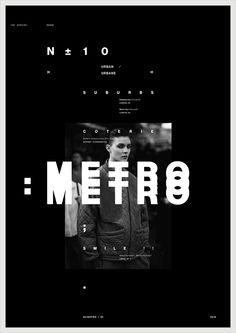 METRO — Designspiration, staggered motion/ color overlay