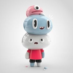 Playful 3D Characters by El grand Chamaco
