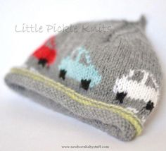 Baby Knitting Patterns Baby Beanie 'Little Cars' Knitting pattern by Little Pickle ...