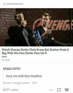 Chris Evans Steve rogers captain America Doritos bury me with this headline