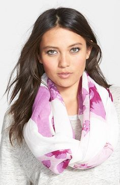 Free shipping and returns on Halogen® Floral Print Infinity Scarf at Nordstrom.com. Geometric blocks of floral blossoms wash over a pretty infinity scarf made from a lightweight viscose-and-linen blend.