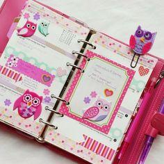 filofaxing trend eulen lila pink büroklammer filz