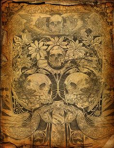 skulls, kind of creepy but good as a background, maybe at 20%