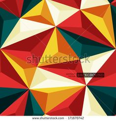 Seamless background with relief triangles