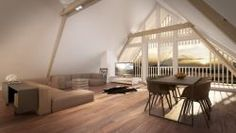 Rifferswil: grosse 7.5 Zimmer Dach-Maisonette Wohnung mit Blick ins Grüne, 2 Loggias Types Of Rooms, Stairs, Interior Design, Architecture, Design Ideas, Houses, Inspiration, Home Decor, Attic Apartment