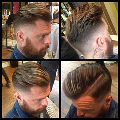 All round finished view of Karlos . Top Hairstyles For Men, Haircuts For Men, Cool Hairstyles, Men's Haircuts, Hair Trends 2015, Mens Hair Trends, Hair And Beard Styles, Short Hair Styles, Barbers Cut