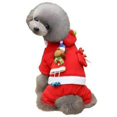 02d909cb3d Pet Dog Cat Christmas Costumes Coat Santa Claus Suit for Small Medium Large  Dogs Cat Christmas
