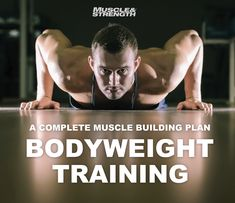 Build a body like a god: a complete bodyweight training plan. Get back to basics and build muscle at home with this classic bodyweight training system. This is a flexible training system that focuses on the use of exercise complexes. - Top Fitness Tip! Strength Workout, Strength Training, Fun Workouts, At Home Workouts, Muscle Workouts, Weight Exercises, Build Muscle At Home, Calisthenics Workout, Body Weight Training