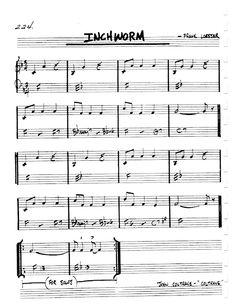 [Jazz Realbook I : Page Inchworm (Frank Loesser) - Jazz Standard Sheet Music Jazz Songs, Jazz Standard, Lead Sheet, Guitar Chords, Piano, Sheet Music, Pop, Books, Flute