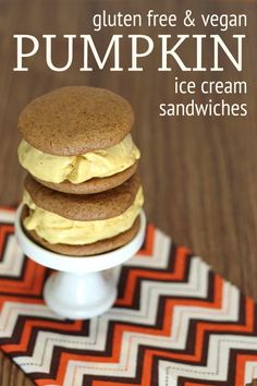 Gluten Free & Vegan Pumpkin Ice Cream Sandwiches