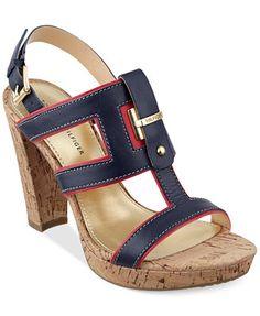 a3c6e2c54a971 Tommy Hilfiger Women s Edessa Platform Dress Sandals   Reviews - Sandals   Flip  Flops - Shoes - Macy s