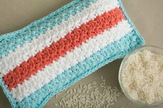 Mod Stripes Rice Bag - Microwavable rice bags are a great way to soothe sore muscles. Crochet your own in bright colors to boost your spirits today. From I Like Crochet's April 2014 issue