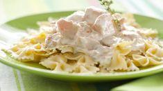 Паста с лососево-сырным соусом, пошаговый рецепт с фото