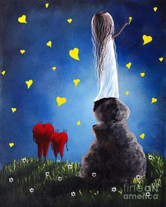 Anytime You Need A Friend By Shawna Erback Painting by Shawna Erback