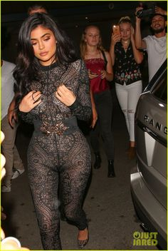 Kylie Jenner Wears Super Sexy Lace Jumpsuit for 19th Birthday Party!: Photo #3722955. Kylie Jenner rocks a sexy lace jumpsuit while stepping out to celebrate her 19th birthday on Sunday (July 31) at the Nice Guy in West Hollywood, Calif. The 18-year-old…