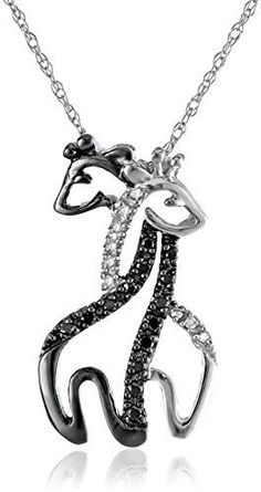 10k White Gold Black and White Diamond Giraffe Pendant Necklace (.09 cttw), 18″ by Amazon Curated Collection - See more at: http://blackdiamondgemstone.com/jewelry/necklaces/pendants/10k-white-gold-black-and-white-diamond-giraffe-pendant-necklace-09-cttw-18-com/#sthash.lhPLwMoM.dpuf