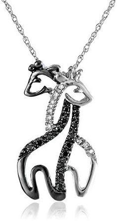 Beautiful intertwined giraffe necklace. :)