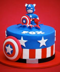 Cpt. America Jeremy's groom cake....just to shut him up....I'm just sayin