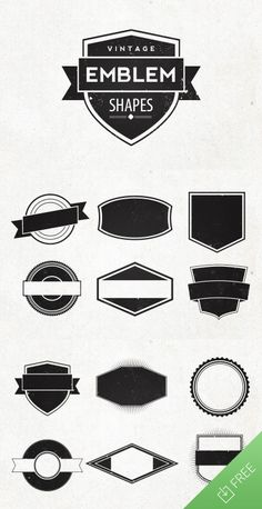 New Freebie From Medialoot 12 Vintage Emblem Shapes 100 Vectorized And Editable