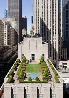 New York Rooftop Penthouse in Rockefeller Center building, view from Saks cafe on top floor.