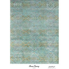 Jaipur Hand Knotted Capri/Amber Green Contemporary Pattern Rug