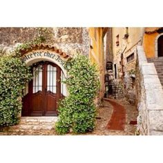 Jasmine covered entryway Eze Provence France Canvas Art - Brian Jannsen DanitaDelimont (36 x 24)