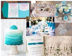 Wonderful blue and ivory summer wedding ideas
