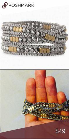 Luna Wrap Bracelet Stella and Dot Very shiny and shimmery! New never worn, pet free/smoke free home Stella & Dot Jewelry Bracelets