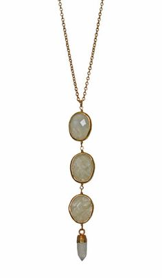 CLEO necklace - white moonstone